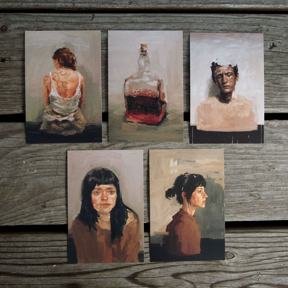 Set of 5 Painting Postcards