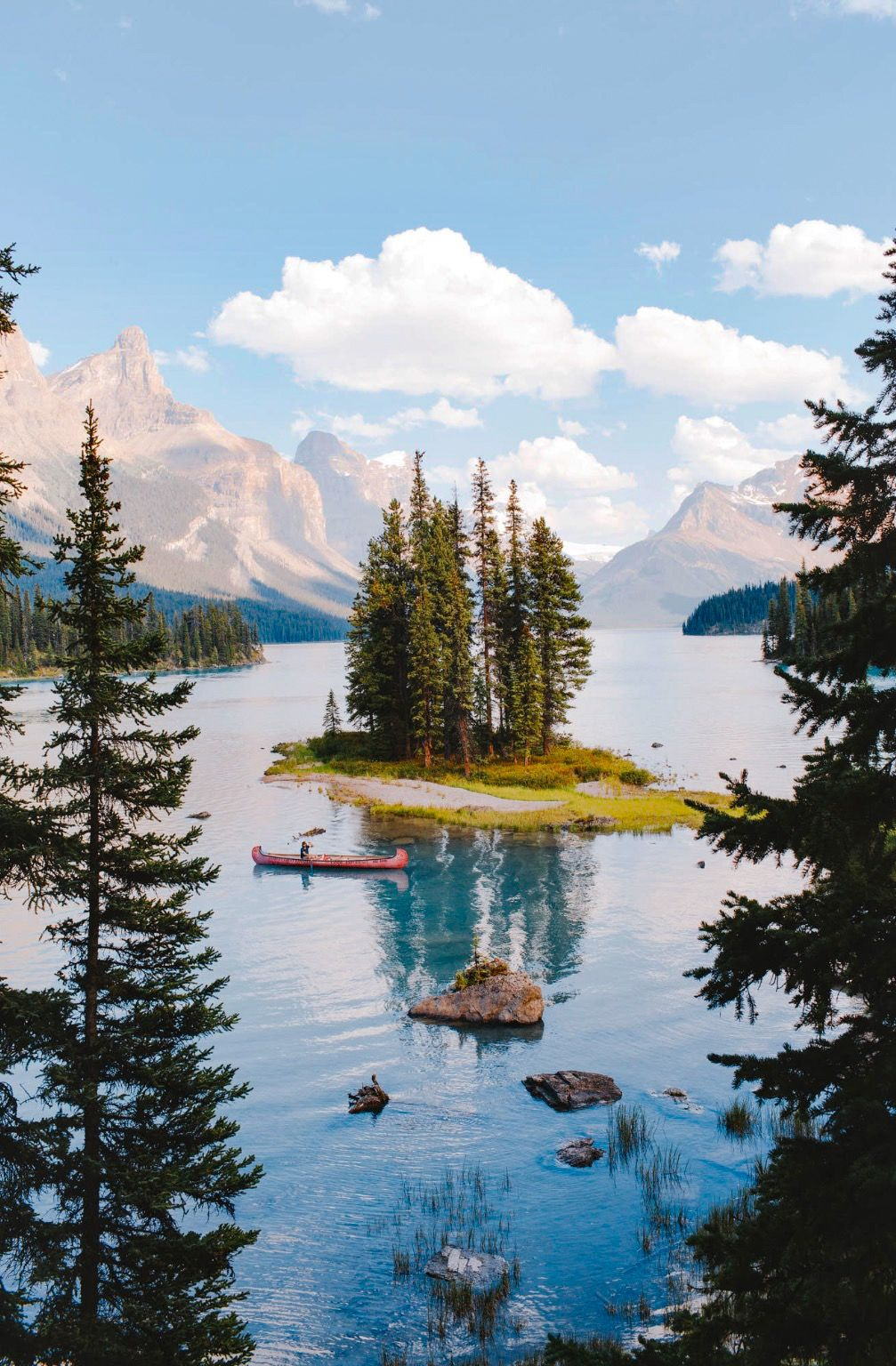***Spirit Island Summer (Maligne Lake, Jasper, BC) by Alex Strohl E