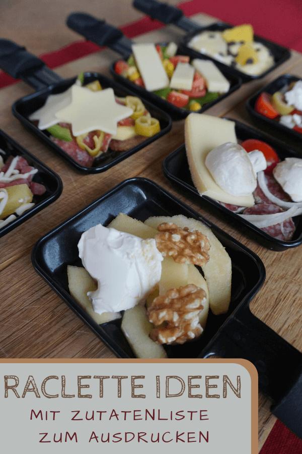 Raclette - Zutatenliste & Kombinationen