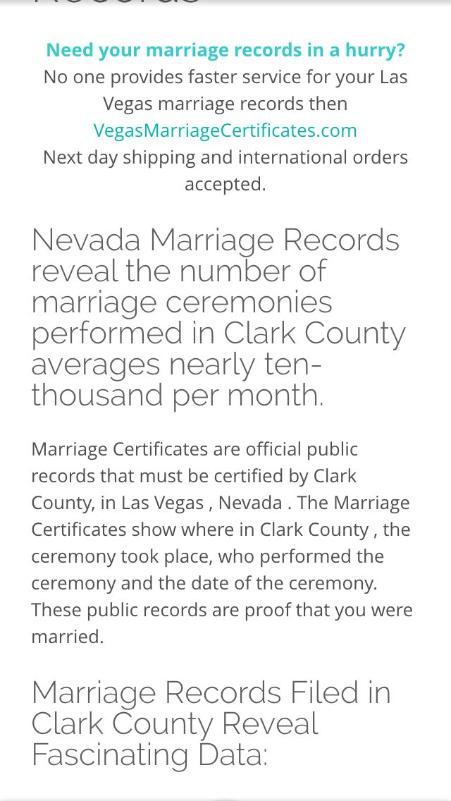 Best Las Vegas Nevada Marriage Records Image Collection