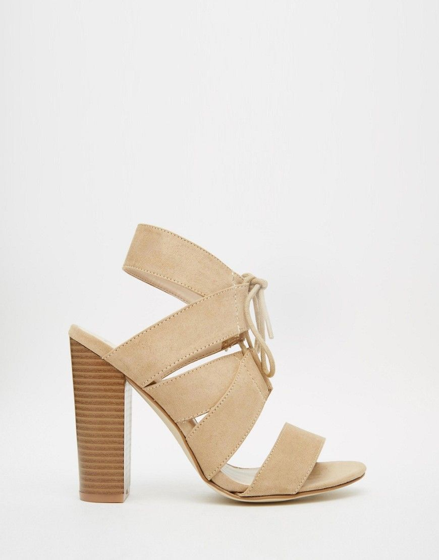 New Look Lace Up Block Heeled Sandals | clothes | Lace up
