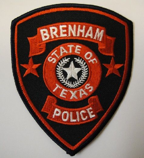 Brenham Pd Tx Texas Police Police Patches Police