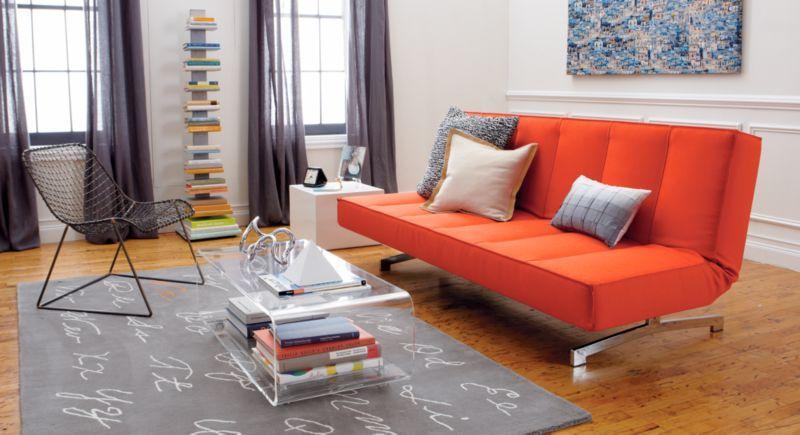 A fashionable and affordable sleeper sofa Flex orange sleeper