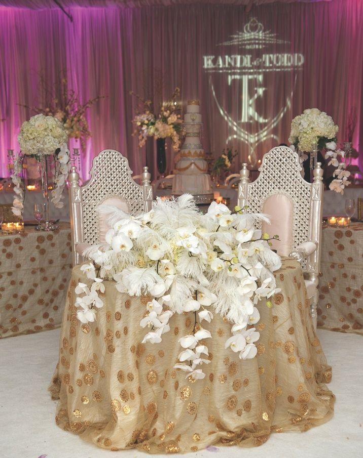Real Wedding Of Rhoa Kandi Burruss Todd Tucker Inside Weddings Sweetheart Table Wedding Sweetheart Table Wedding Inside