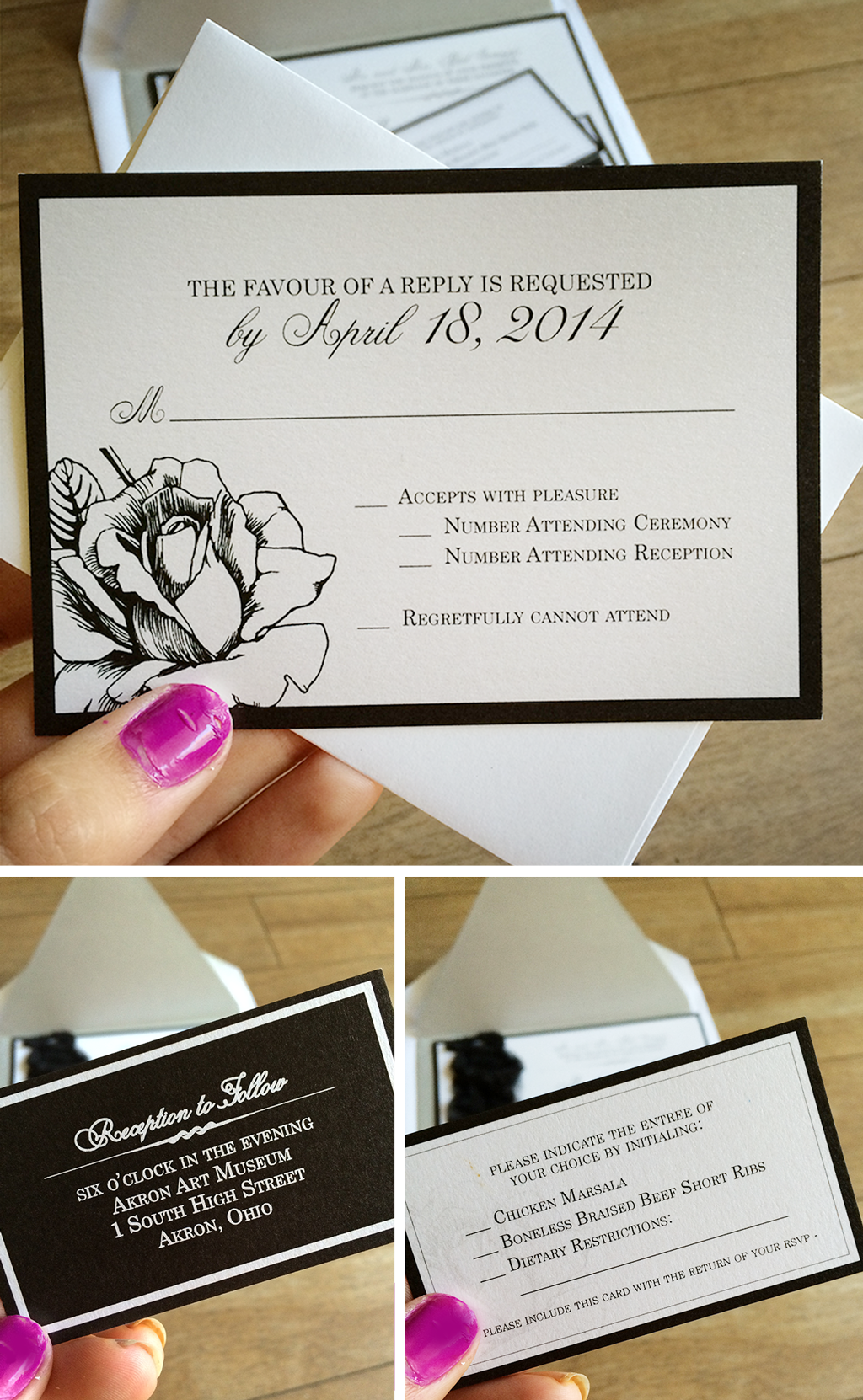 makara  ryan  wedding  reception card wedding