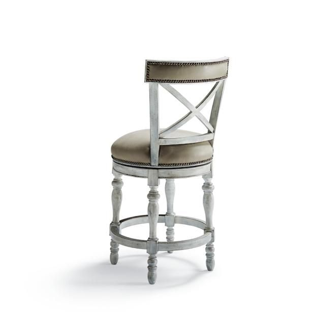 Griffith X Back Swivel Counter Height Bar Stool 26 Quot H Seat