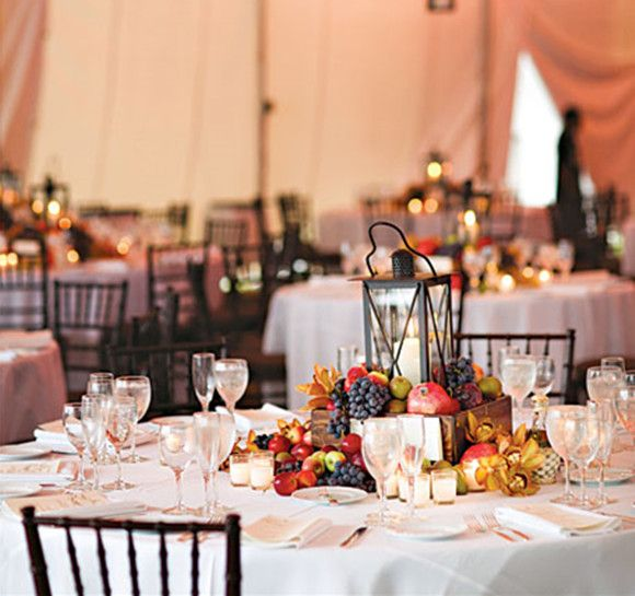 Fall Wedding Ideas Table Decorations: Most Stunning Round Table Centerpieces