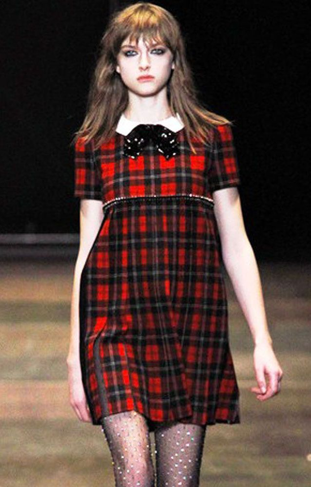 Saint Laurent Tartan fashion