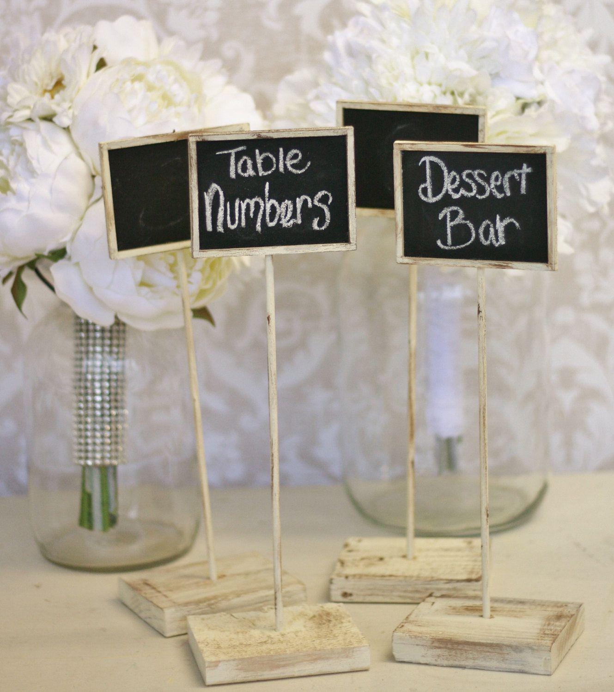Rustic Chalkboard Signs Shabby Chic Wedding Decor SET of 4 ... - photo#43