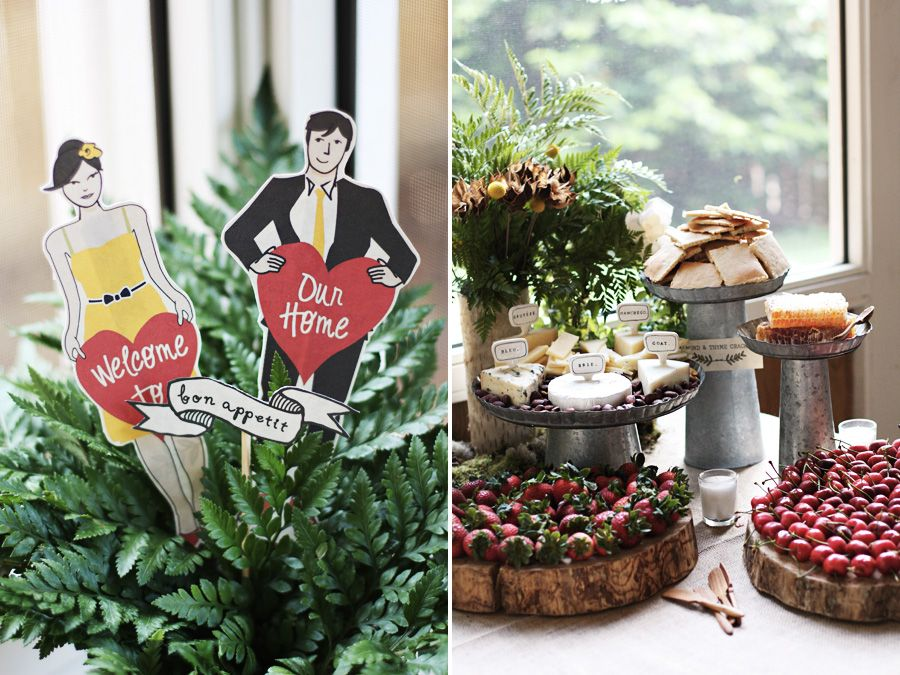 Rustic + chic housewarming party | Photo by Roost via The Sweetest Occasion