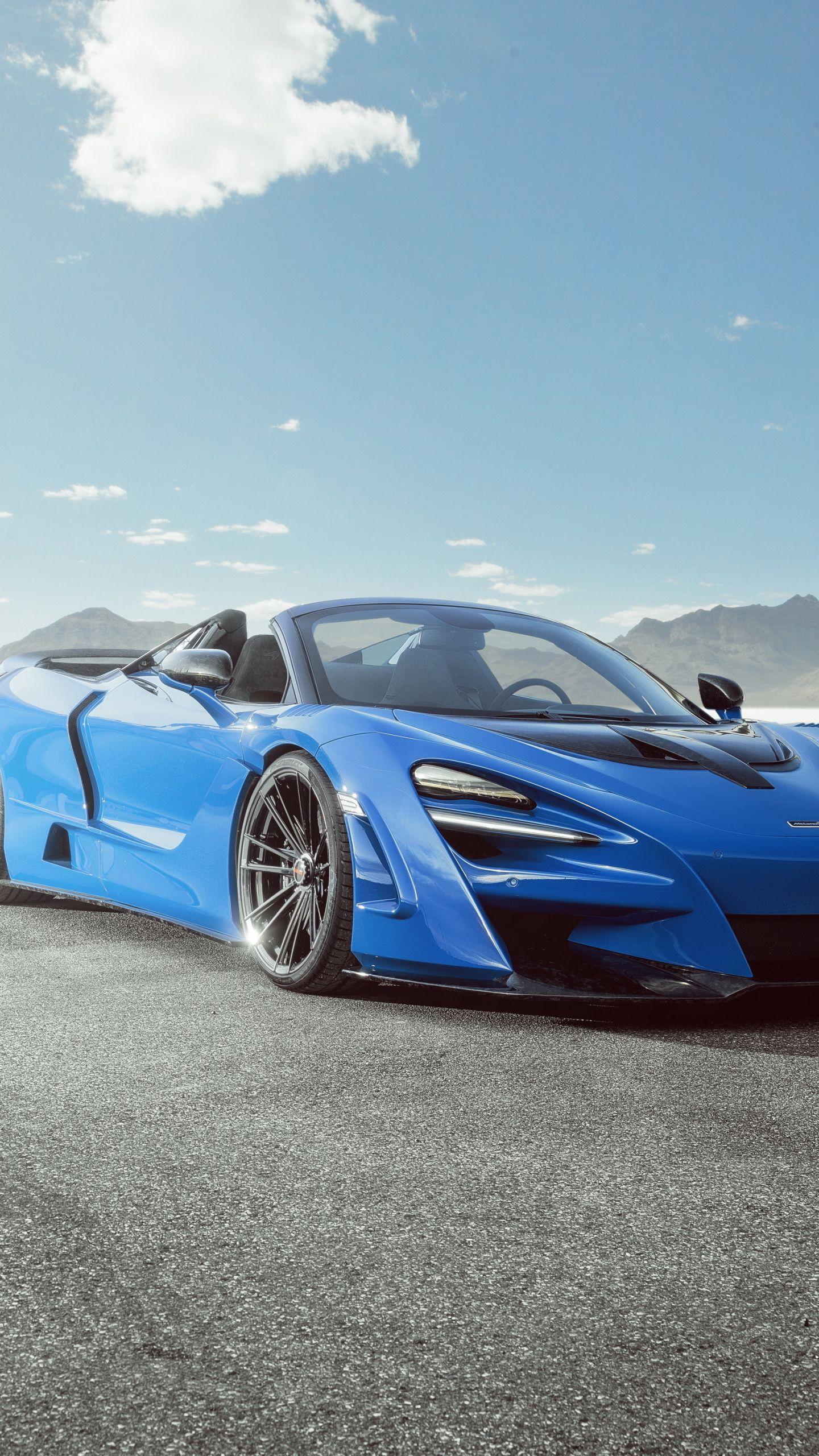 1440x2560 Blue Car 2020 Mclaren 720s N Largo Wallpaper Blue Car Car Super Luxury Cars