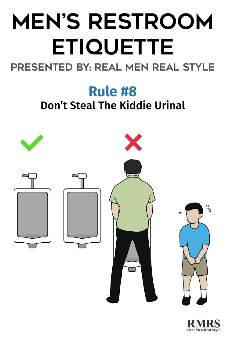 8 Rules You Need To Know To Use The Men S Restroom In Public Men Real Men Real Style Etiquette