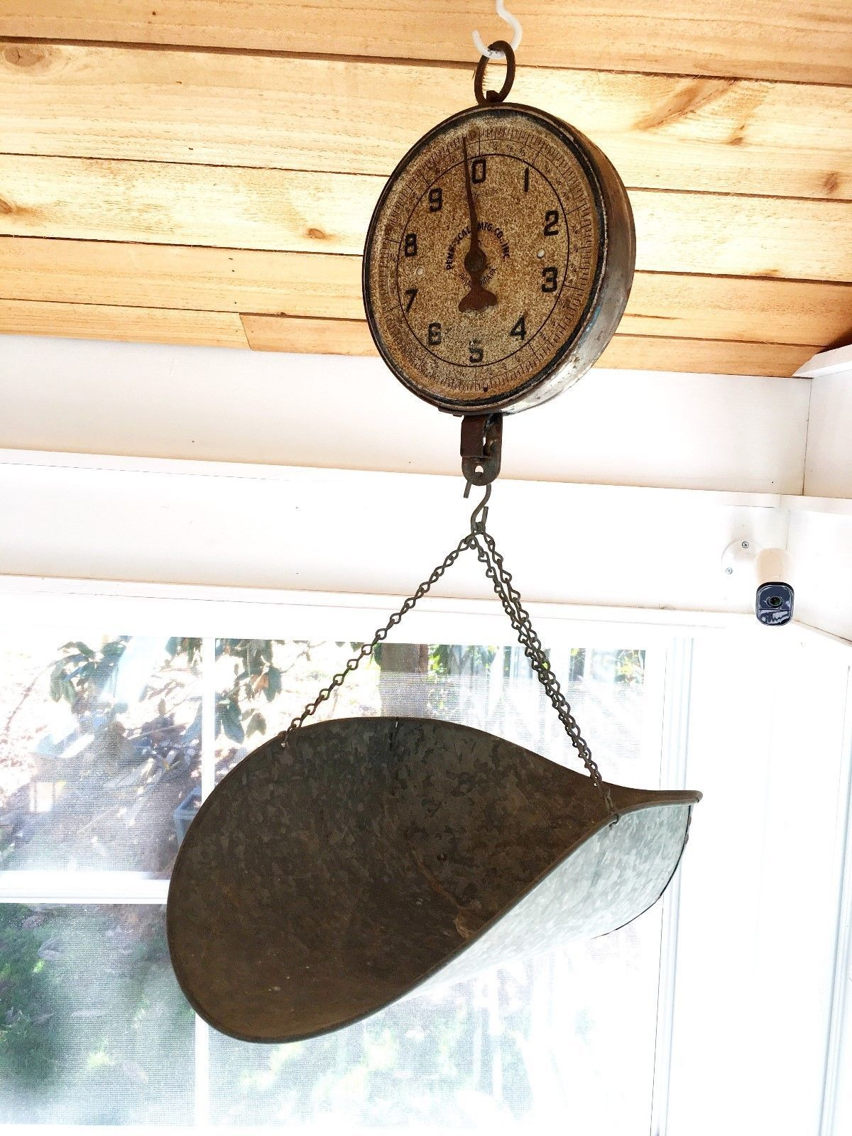 VINTAGE ANTIQUE PENN SCALE CO HANGING PRODUCE SCALE W