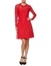 Red Lace Dropped Waist Dress Preen by Thornton Bregazzi 2