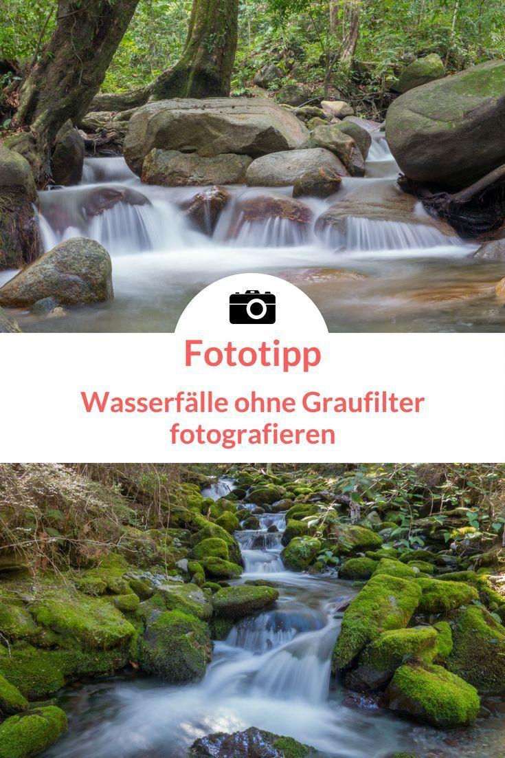 Wasserfall fotografieren ohne Graufilter mit Schleier Effekt: Tipps und Tricks #tippsundtricks