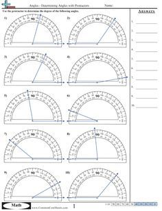 Angles Excellent Source for Identifying and Measuring Angles ...