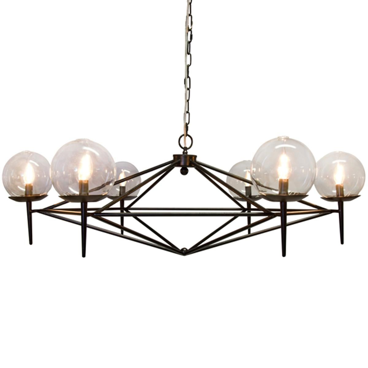 lighting globes glass. Modern Pyramid Glass Globes Chandelier. Cool, Mid Century Lighting S