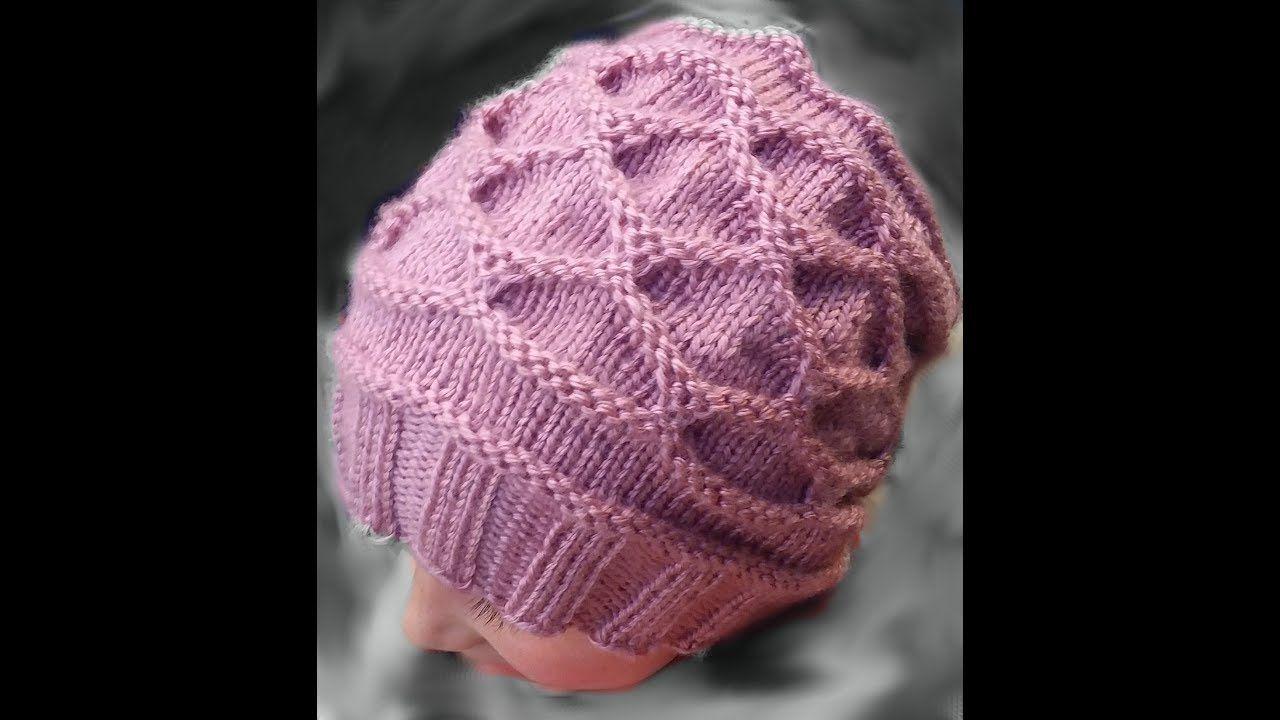 How to Loom Knit Diamond Ribbon Stitch | Loom Knitting | Pinterest ...