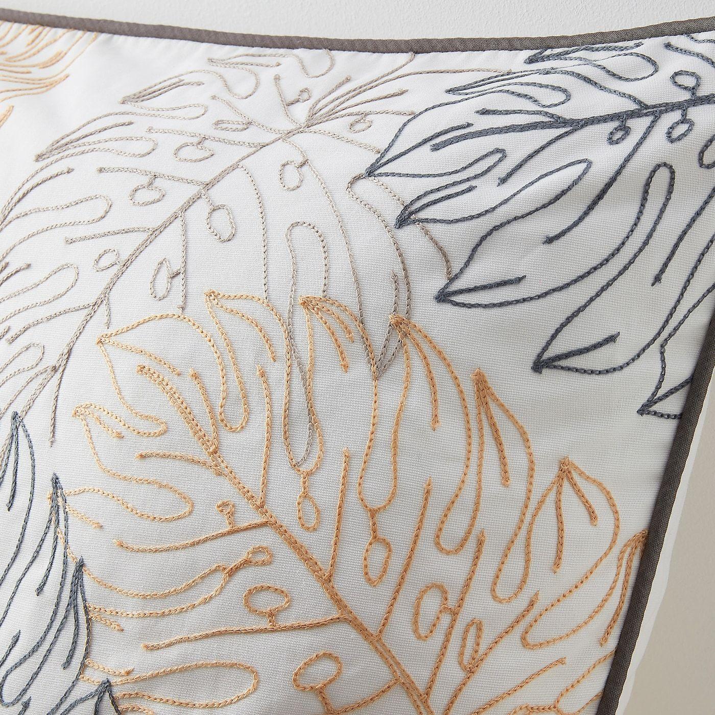 Hedbomal Kissenbezug Blattmuster Bestickt Blattmuster