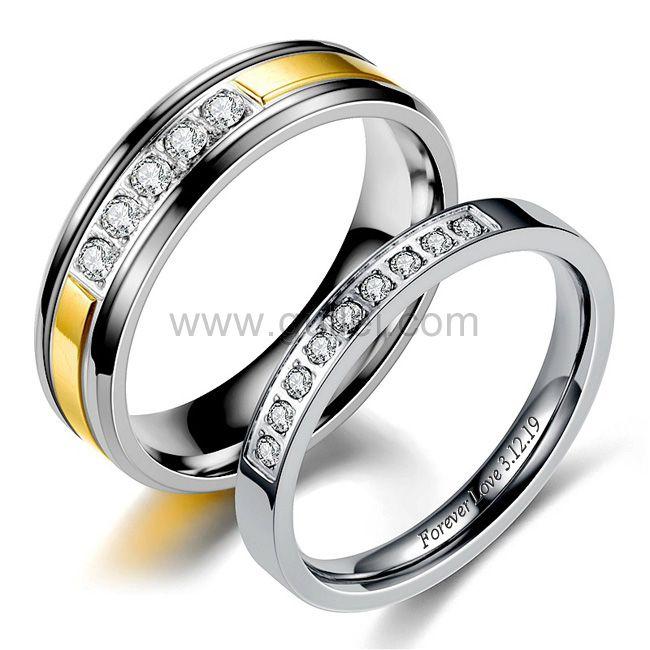 Couple Men And Women Anniversary Rings Gift Platinum Diamond