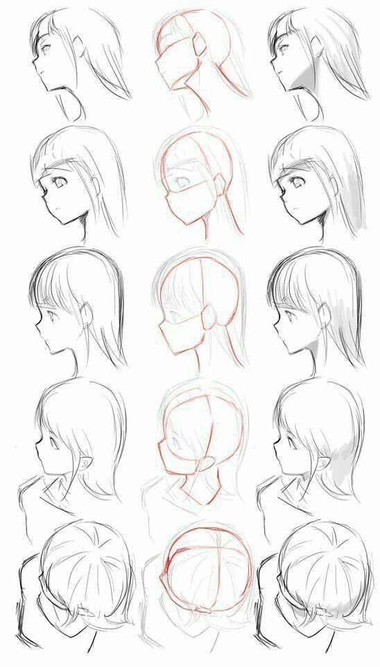 Pin By Kurona Neko On رسم الشعر Anime Drawings Tutorials Drawing Tutorial Drawing People