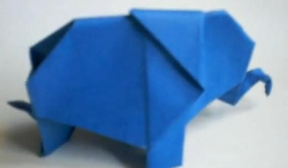 Easy Origami Elephant Tutorial (ASMR Paper Folding) - YouTube | 331x567