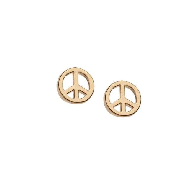 sign stud peace earrings
