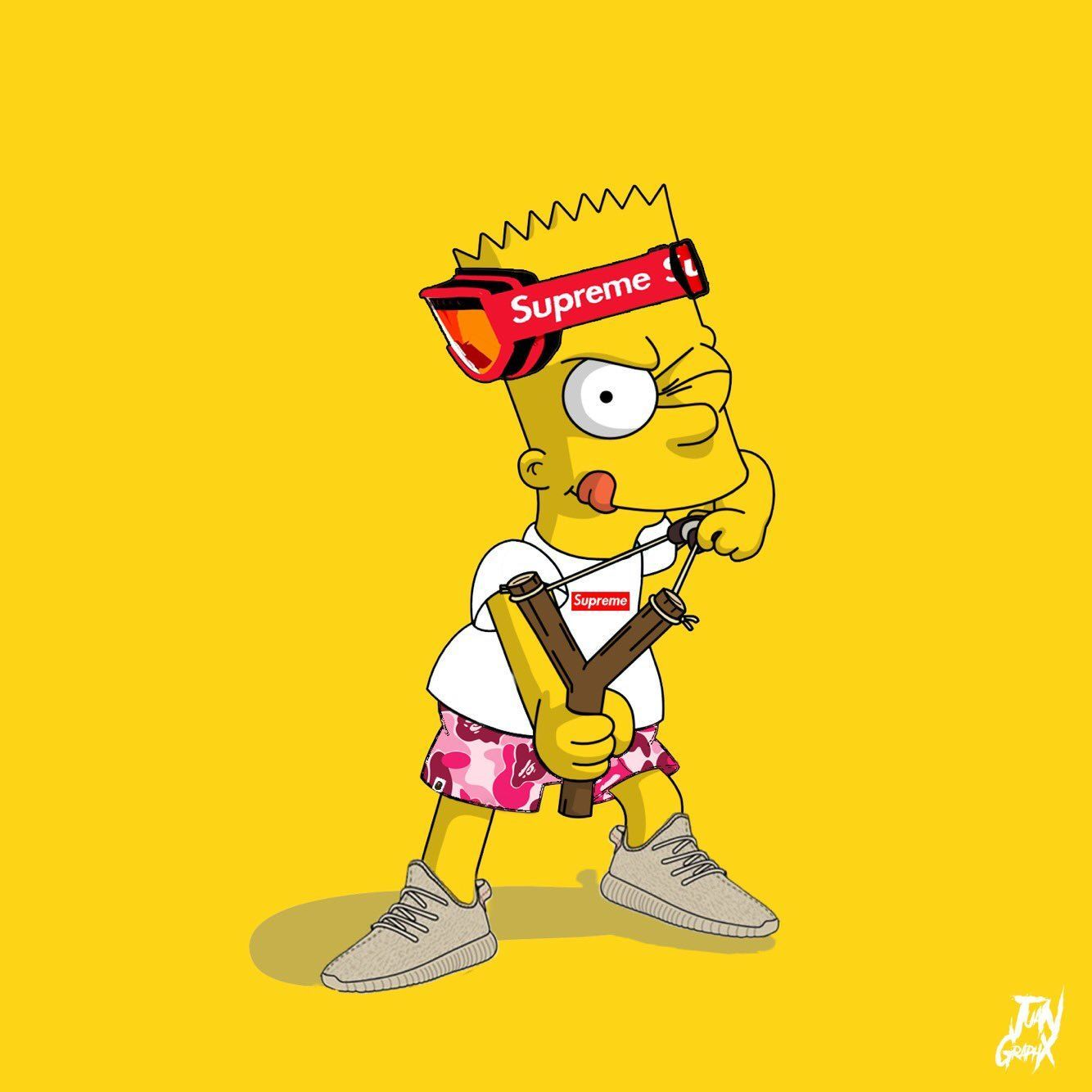 1334x1334 Bart Simpson Wallpaper Supreme Dazzle My Droid Tjn Iphone Walls 4 Bart Simpson Art Supreme Wallpaper Bart Simpson
