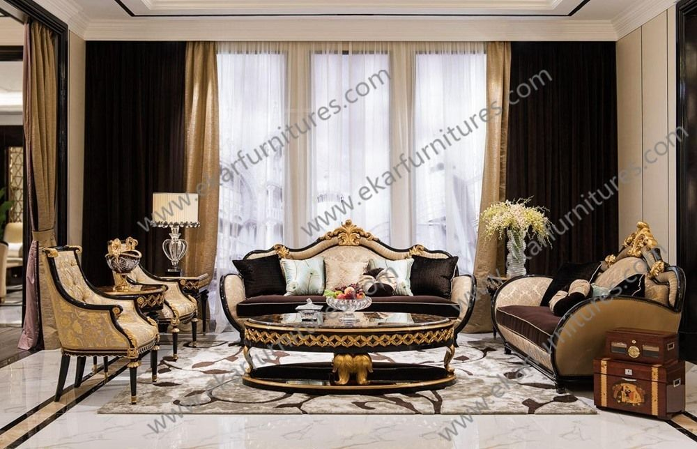 Living Room Furnishings And Design Adorable Baroque Antique Luxury Leather Sofa Sets For Living Room Furniture Review
