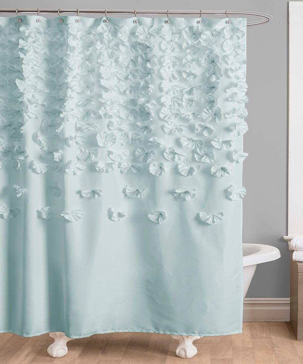 Blue Lucia Shower Curtain Pretty Color Shower Curtains