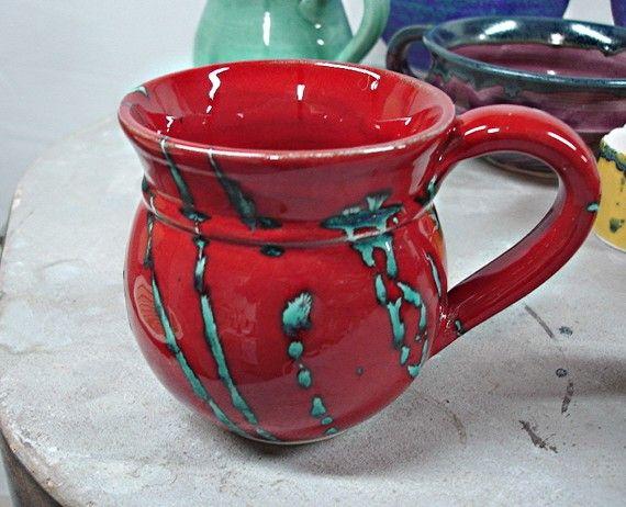 Beautiful Handmade Wheel Thrown Coffee Cup 19