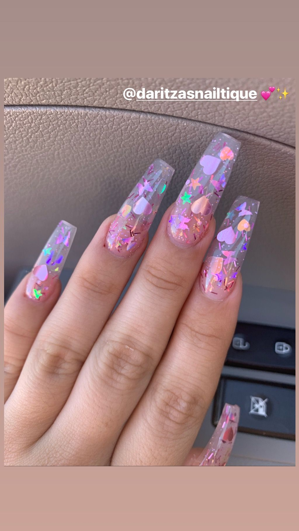Pink Iridescent Coffin Nails Dream Nails Coffin Nails Designs Butterfly Nail