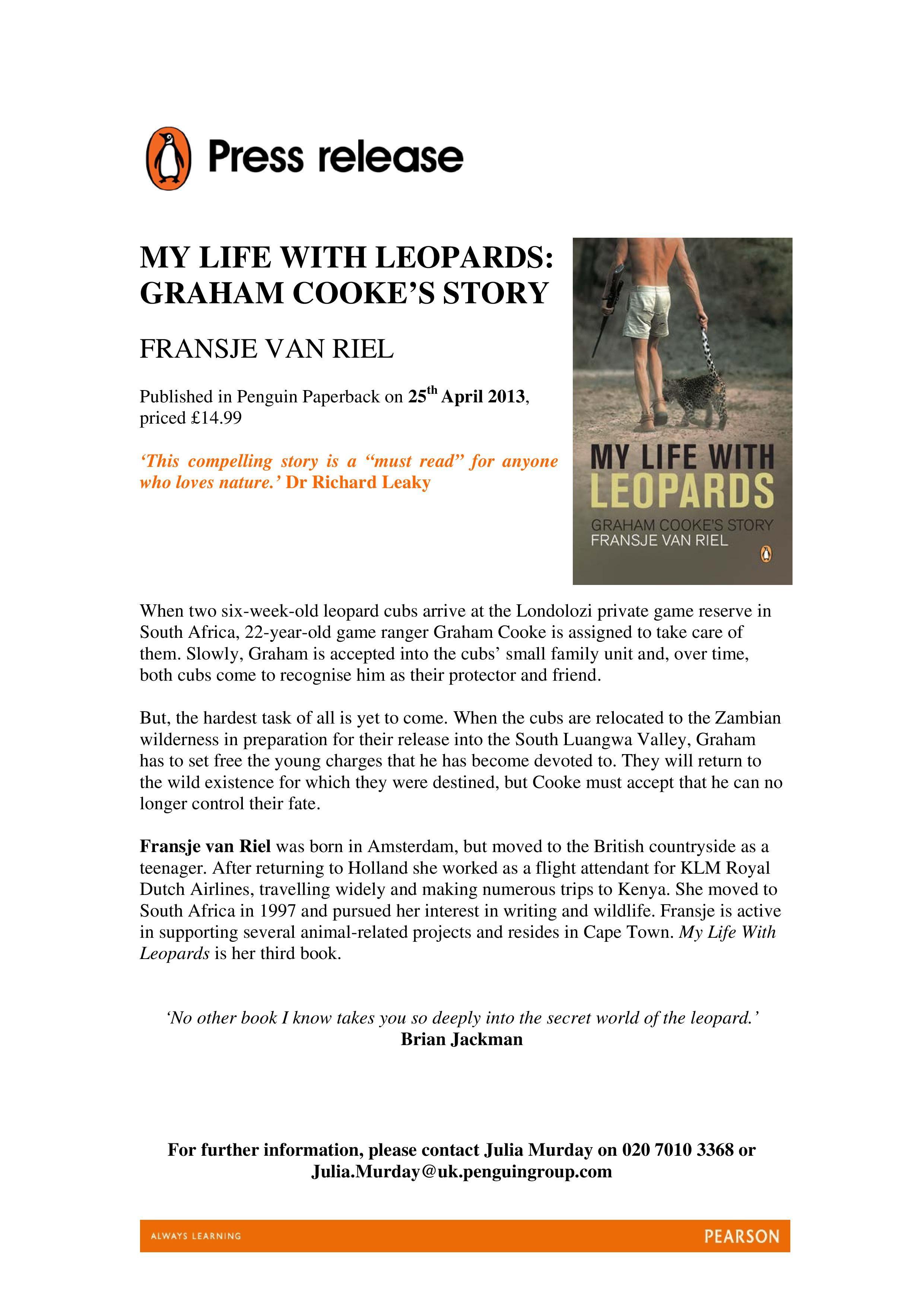 Example press release courtesy of Penguin Books UK. My ...