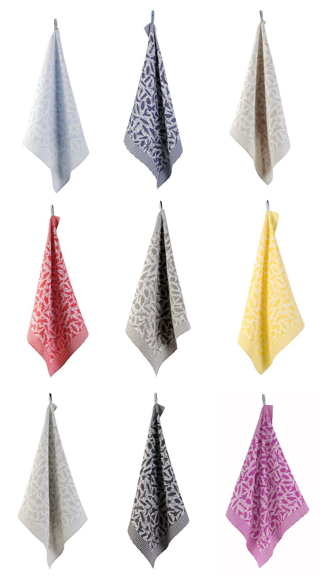 Insecten Tea Towels By Studio Job Woven In The Textile Museum Netherlands