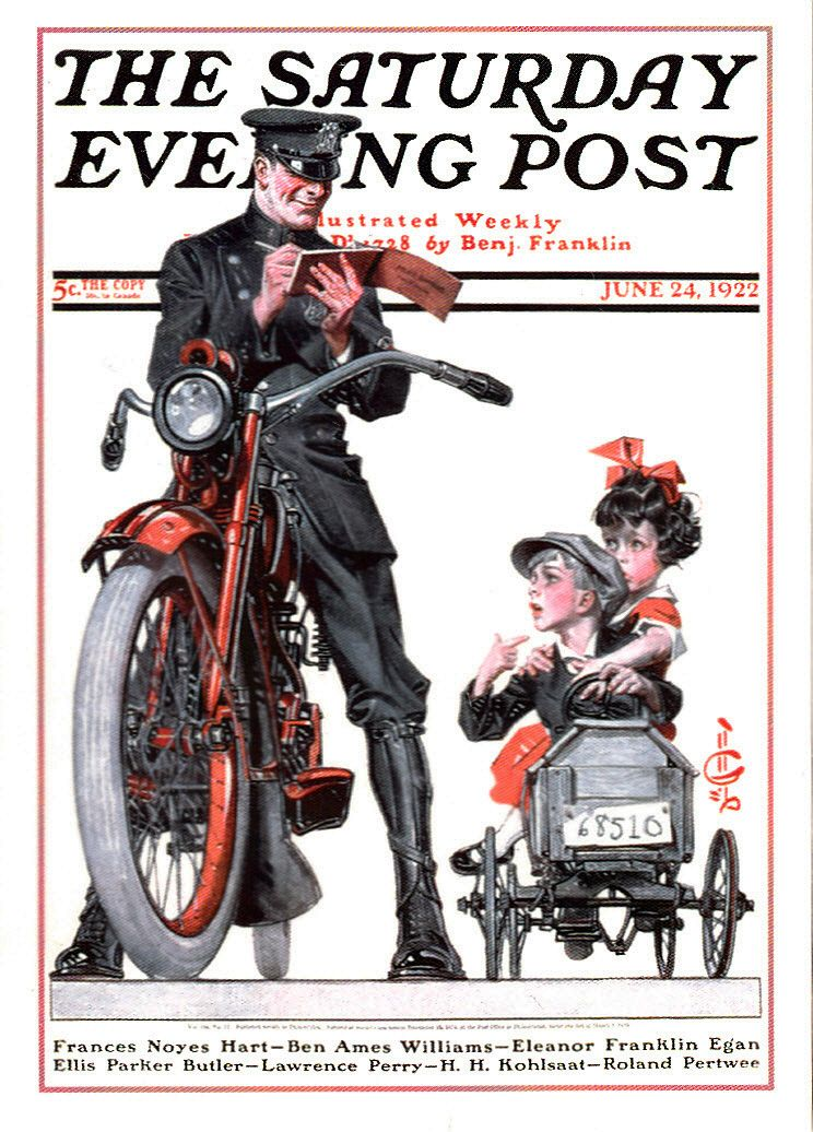 Ticket by J C Leyendecker, June 24, 1922, The Saturday Evening Post.