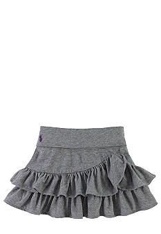Ralph Lauren Childrenswear Knit Ruffled Cotton Skirt Toddler Girls