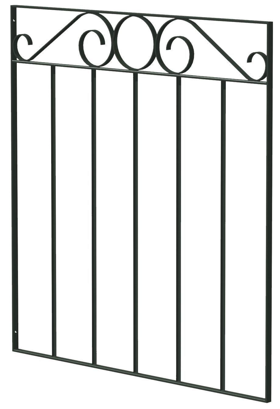 Blooma Steel Swirl Top Narrow Gate H 850mm W 770mm Rooms Diy