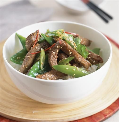 The delicious beef and veggies in this stir-fry add up to a great dish. We used pre-cut beef stir-fry strips, but it's easy to slice your own, use beef rump or rib eye/scotch fillet.