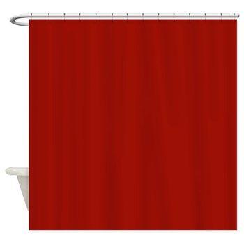 Curtain Dark Red Shower