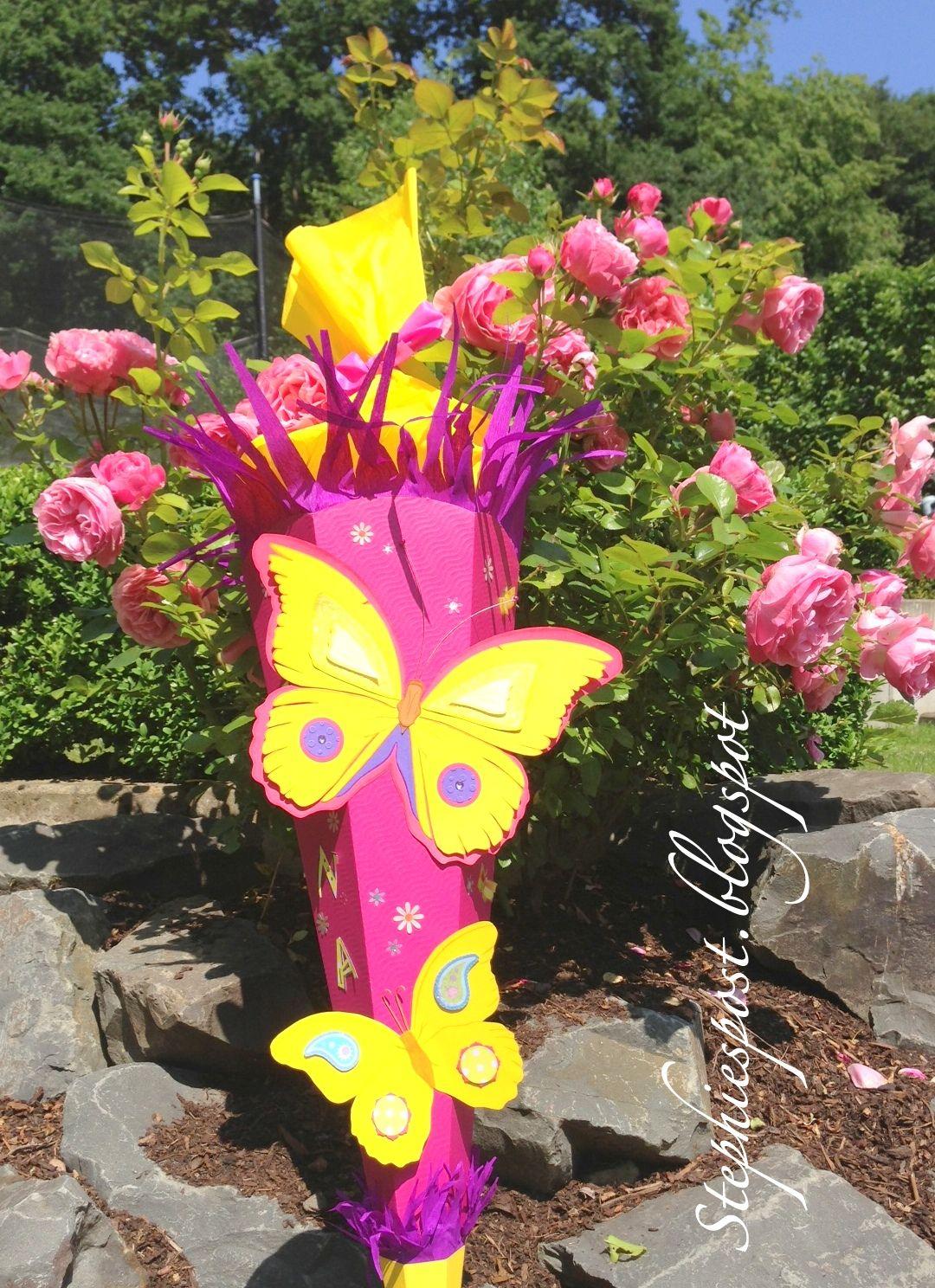 Schultüte Schmetterling Und Blumen Für Mädchen Basteln