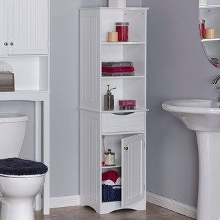Riverridge Ashland Collection Tall Cabinet White Home Products