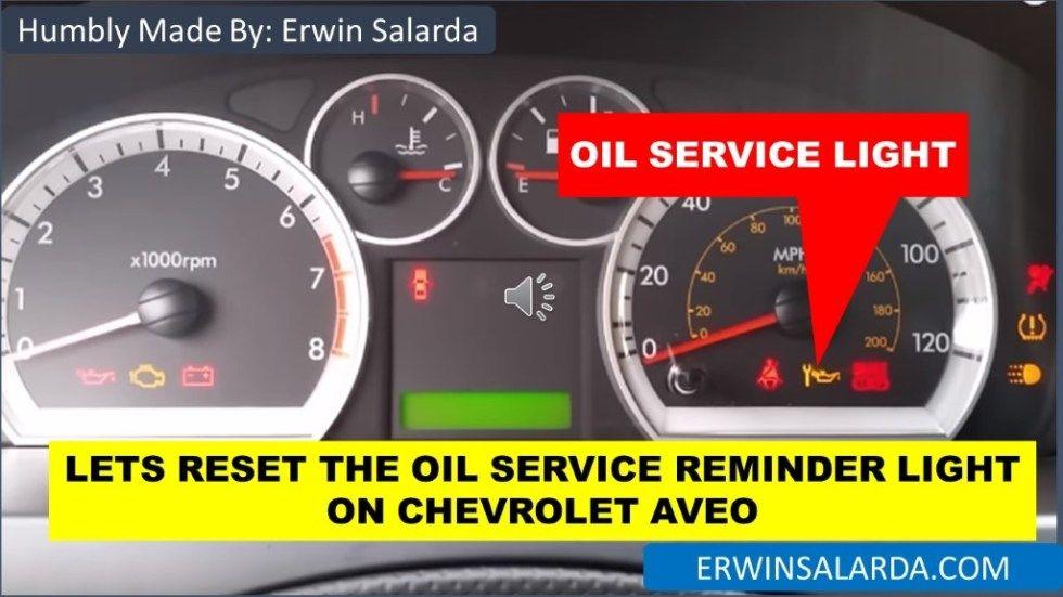 How To Chevrolet Aveo Oil Life Reset 2004 2005 2006 2007 2008