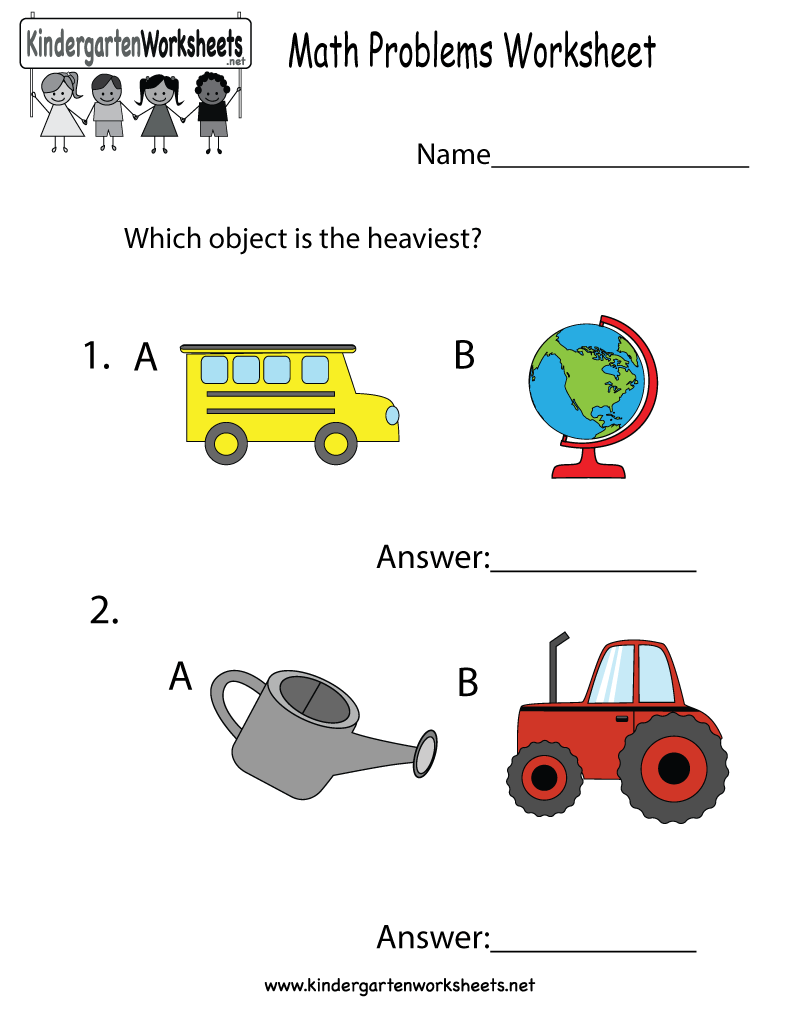 This worksheet asks kids to figure out the objects that weigh more ...