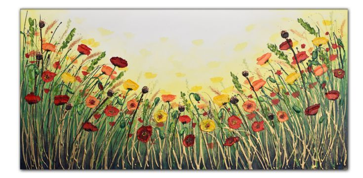 Buy Summer Poppy Dance, Acrylic painting by Amanda Dagg on Artfinder. Discover thousands of other original paintings, prints, sculptures and photography from independent artists.