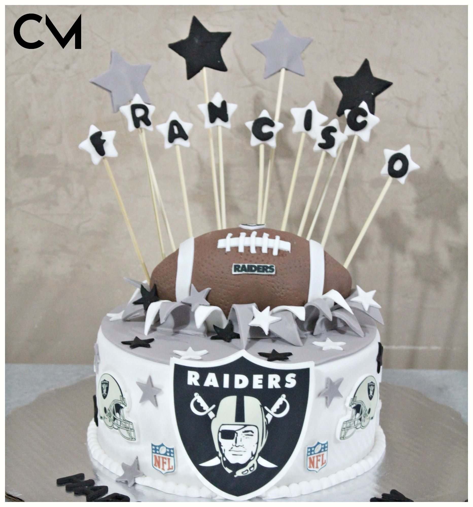 Nfl Party Nfl Fondant Cakes 3d Cakes Raiders Cake