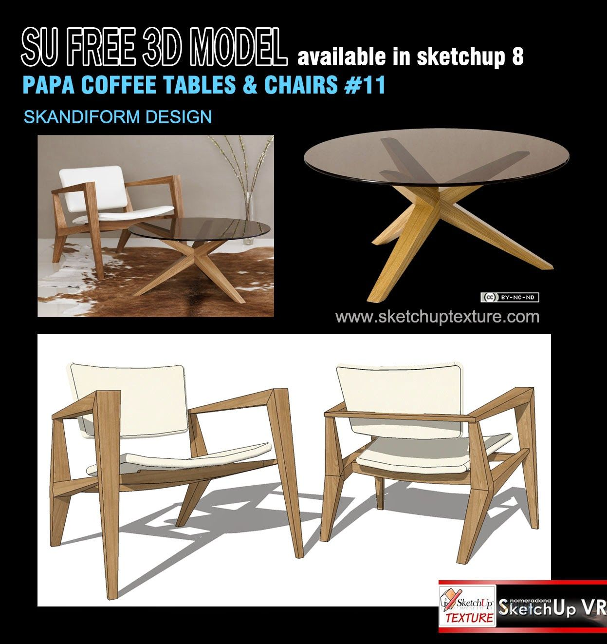 SKETCHUP TEXTURE: Free sketchup 8d model easy chair & table #8