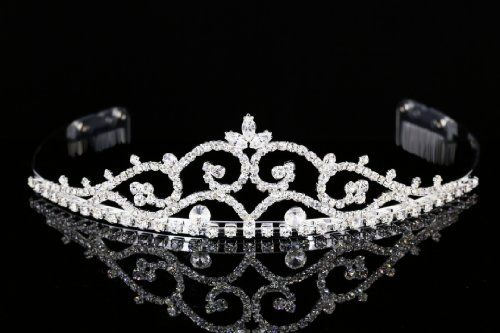 Regal Rhinestone Crystal Prom Bridal Wedding Tiara Crown T927 -- You can find more details by visiting the image link.(This is an Amazon affiliate link and I receive a commission for the sales)