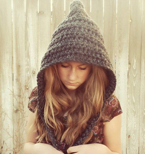 Crochet Preteen to Women Gnome Hat Pixie hat  custom by darcyannie, $36.00