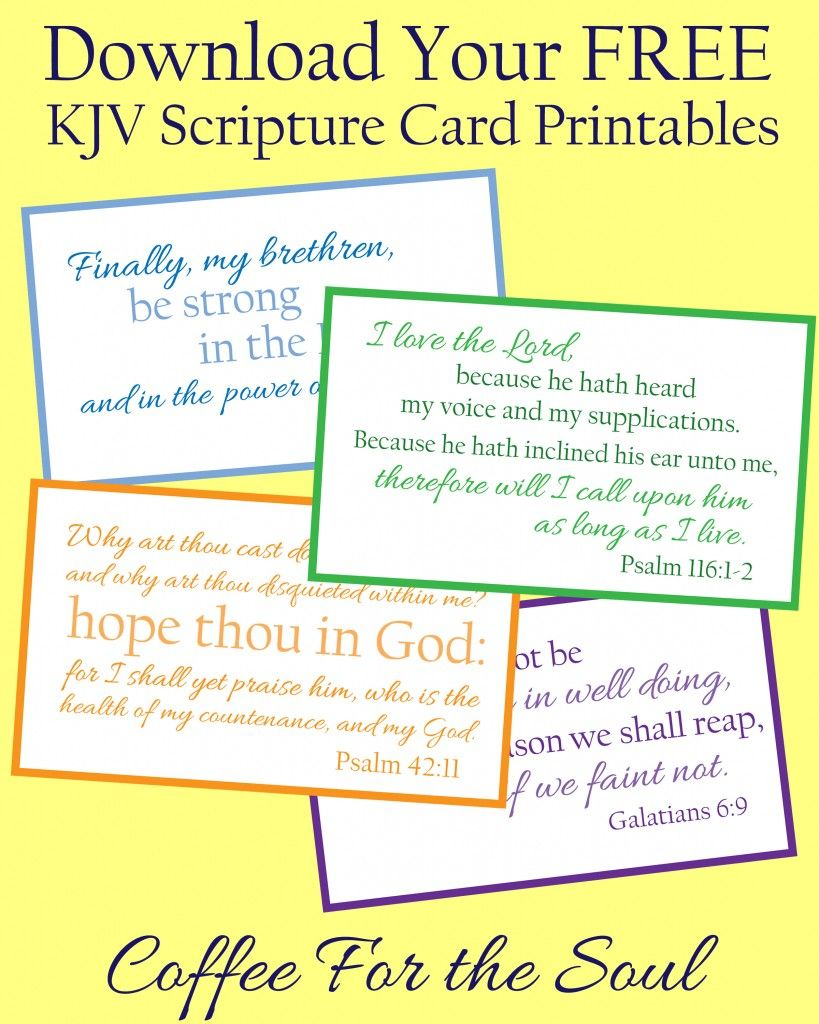 photograph relating to Printable Bible Verses Kjv identified as Pin upon Free of charge PRINTABLES