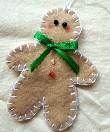 Pin By Bfcaleb On Gingerbread Tree Felt Christmas Ornaments